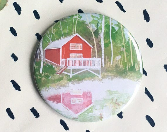 Red Cabin Magnet