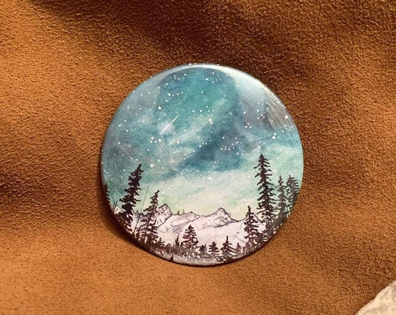 Mountain Lake Pocket Mirror