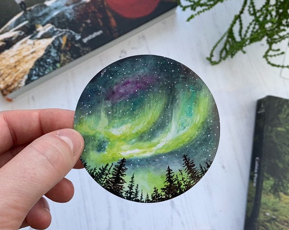 NEW - Northern Lights Vinyl Sticker