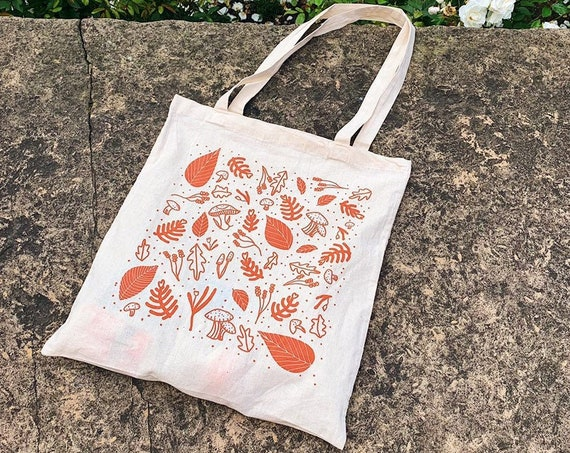 Woodland Screen-Printed Tote Bag