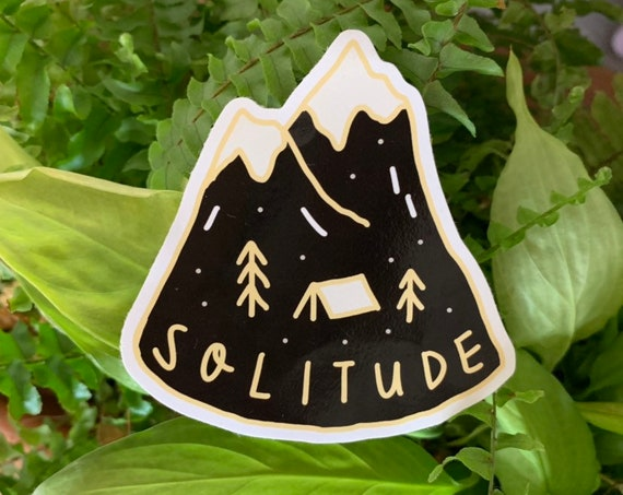 Solitude Vinyl Sticker