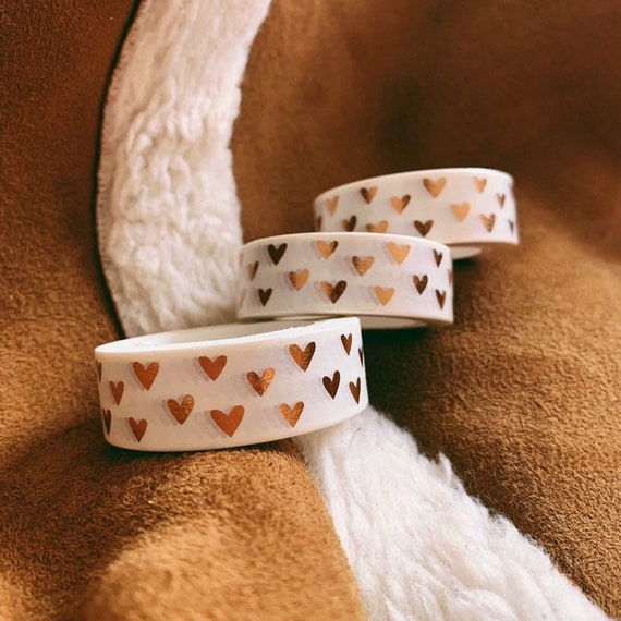 Copper Hearts Washi Tape