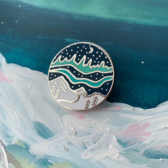 Northern Lights Enamel Pin