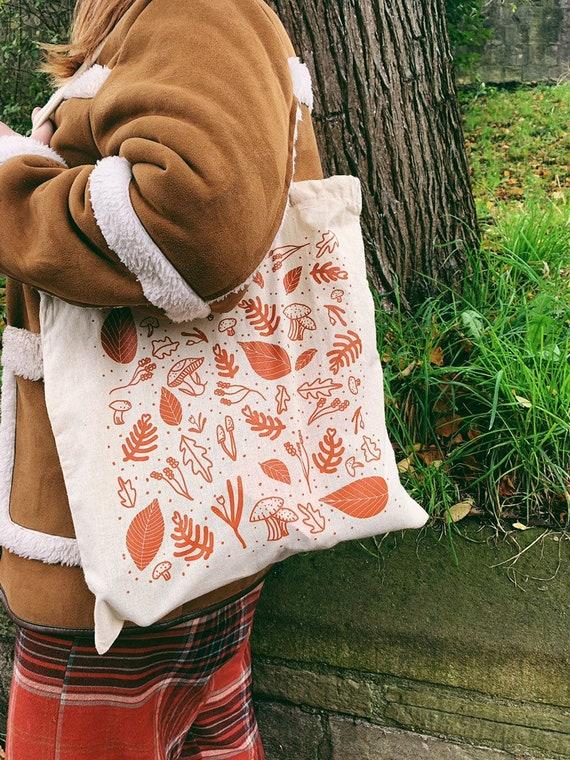 Woodland Screen-Printed Tote Bag