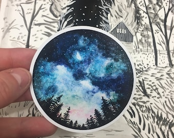 Waterproof Vinyl Starry Sky Sticker