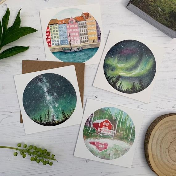 Set of 4 Scandinavia Cards