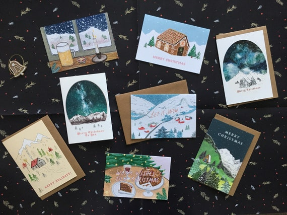 Pack of 8 Traditional Christmas Cards