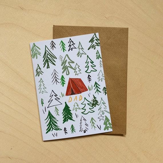 Dad Camping Card
