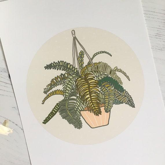 Fern Illustration Mini Print