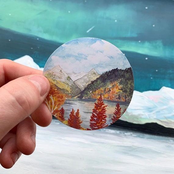 Rocky Mountains Paper Sticker