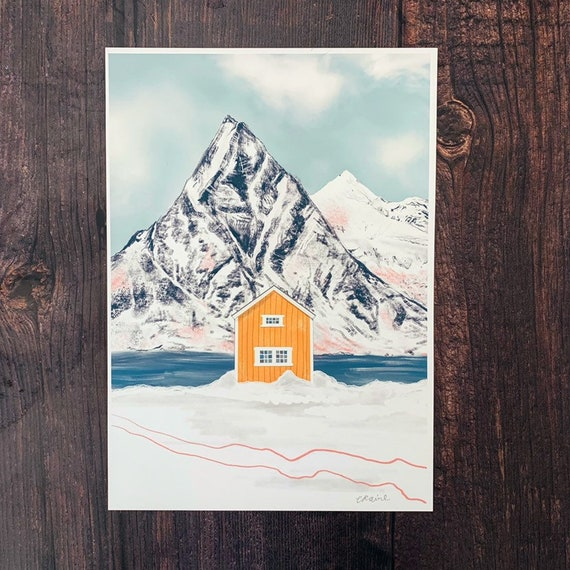 Yellow Cabin A4 Print
