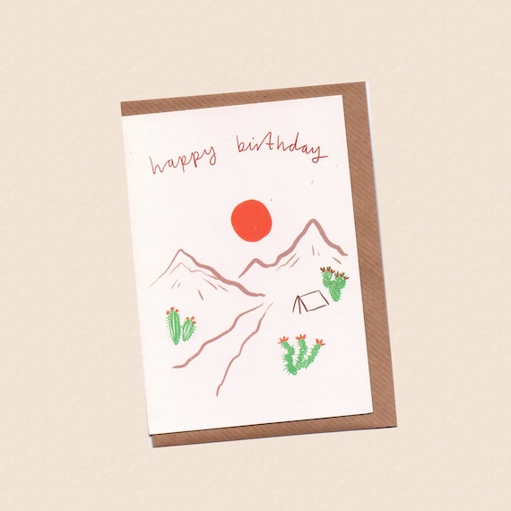 Happy Birthday Desert Card