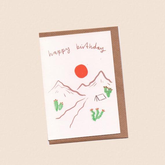 Happy Birthday Desert Card