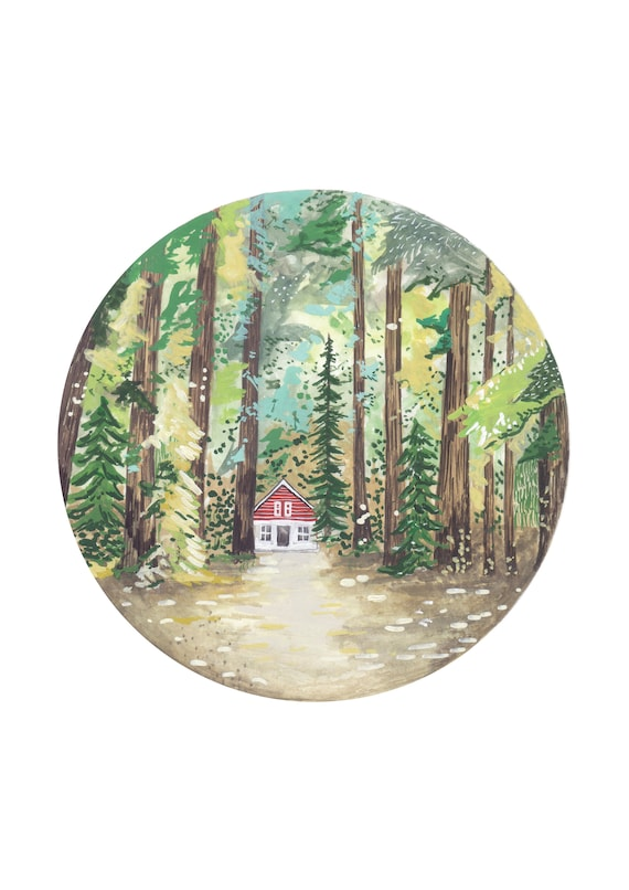 Cabin in the Woods - Printable Art | Printable Wall Art | Poster