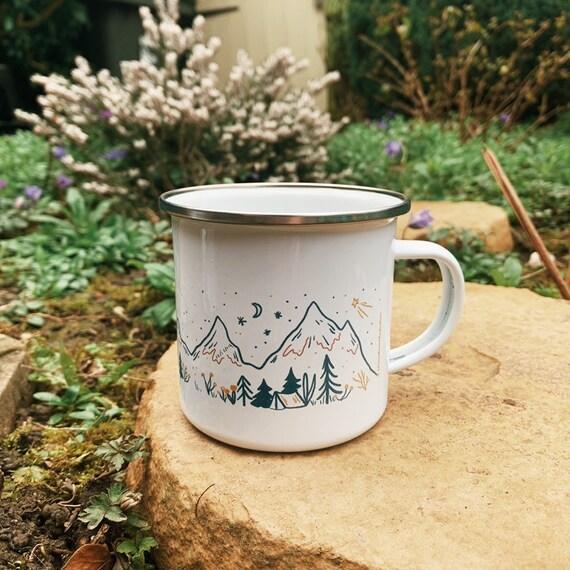 Mountains Enamel Camping Mug 10oz