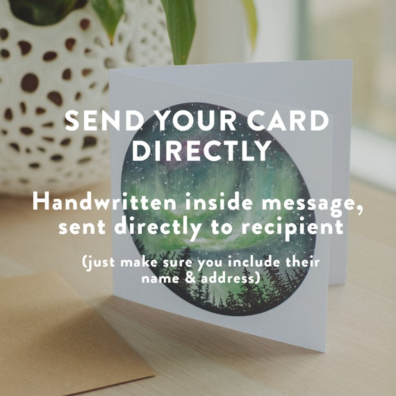 Handwritten message service | Send Directly | Direct to recipient | Write and send