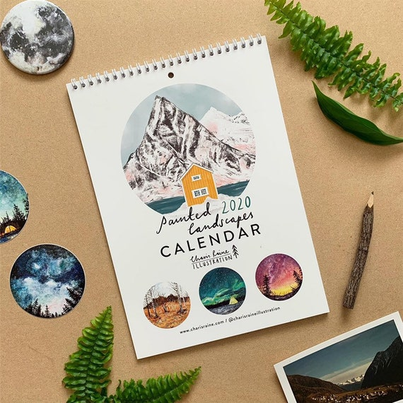 Painted Landscapes 2020 Calendar