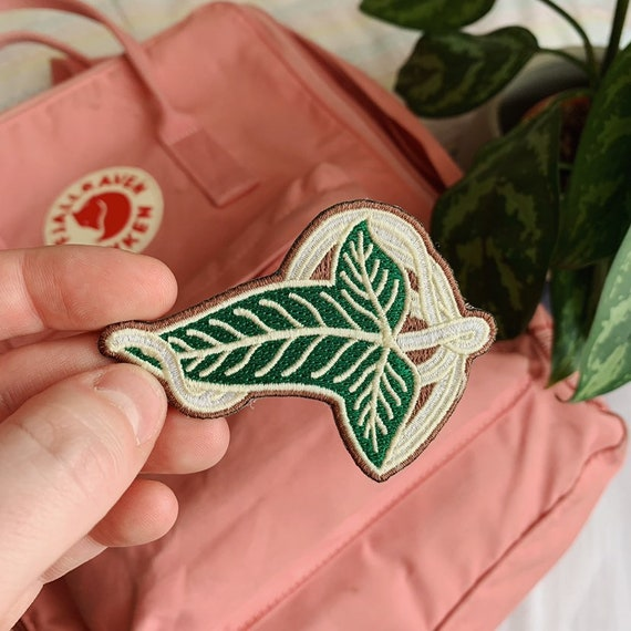 Embroidered Iron-On Leaf Patch