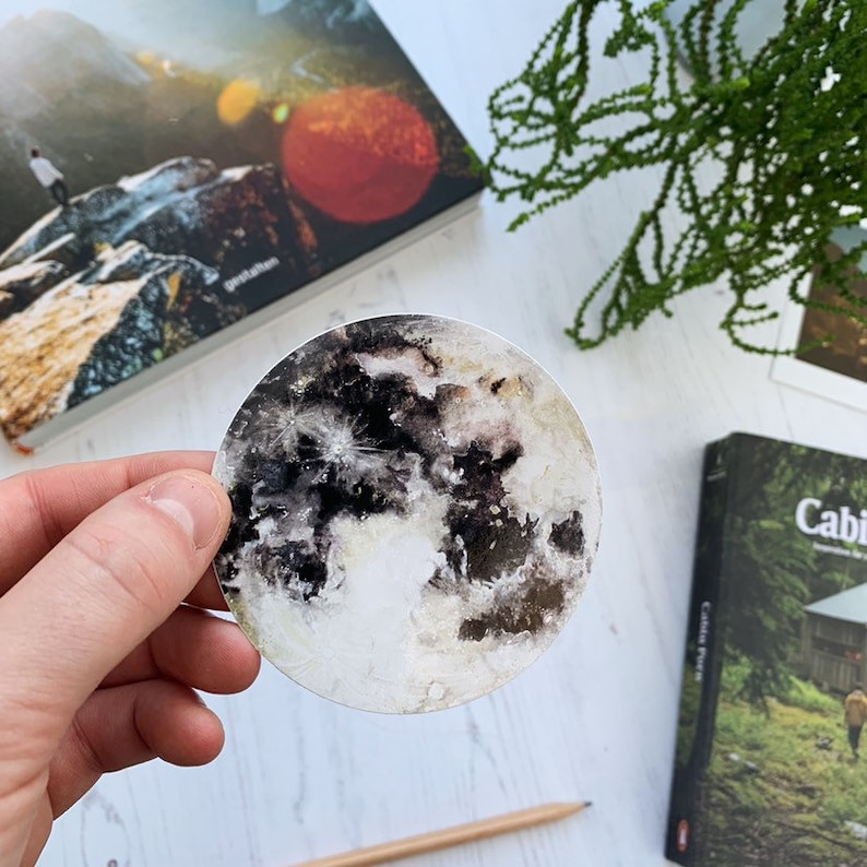 Vinyl Moon Sticker image 0