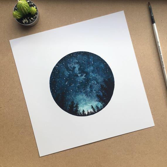 Starry Sky Square Print