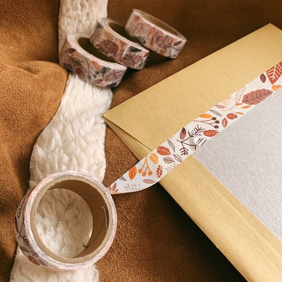Autumn Forest Leaves Washi Tape
