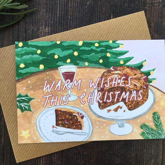 Recycled Christmas Cake Card