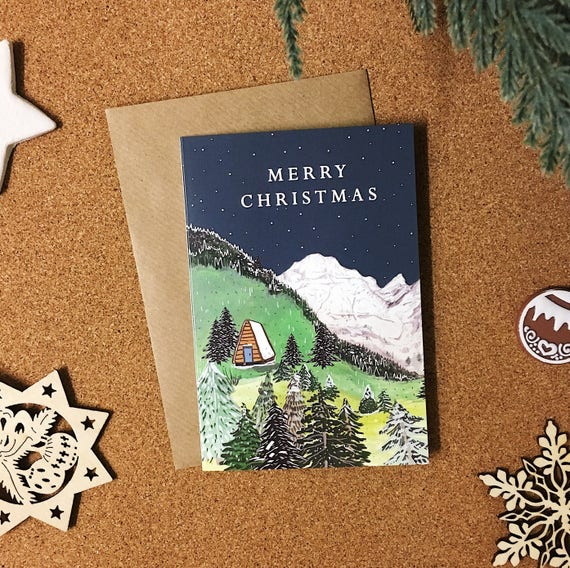Alpine Christmas Card - Single