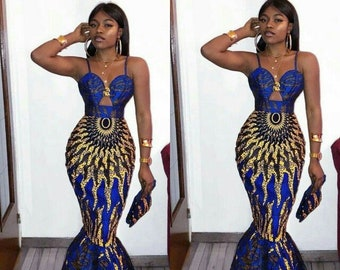 bb165c06044b Mermaid African Prom Dress
