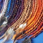 braids made of wool - woolen dreadlocks