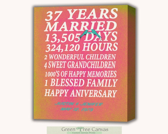 Items Similar To 37th Anniversary 37 Years Together Years Months