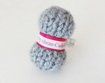 Ring of grey yarn (customizable)