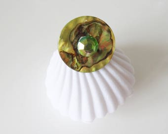mother of Pearl Adjustable ring