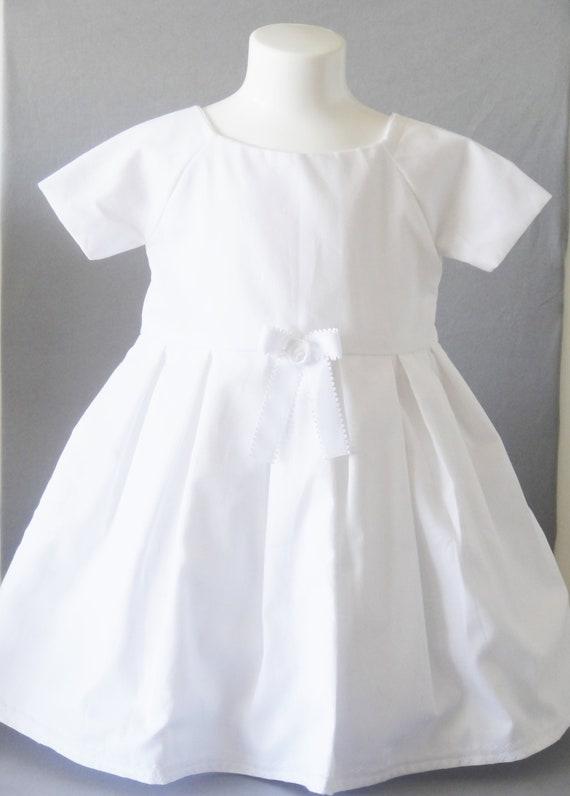 Outlet-Boutique riesiges Inventar größte Auswahl an Kleid Taufe oder trauung, weißes Kleid für Baby - Kind Kleid - Prinzessin  Dress - Kleid Child - einzigartige handgemachte