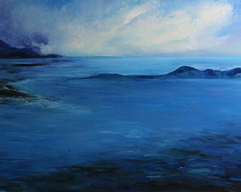 Landscape Sea, big size file, gift for friend, digital file, Landscape, Original Painting, gift idea, gift for far friend, away friend