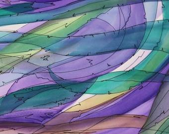 Downloadable art, Watercolor Undersea, Colourful Art, Original Art, Wall Art, ultraviolet Painting, Underwater Life, Violet artwork