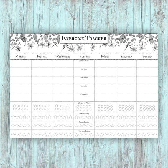 fitness planner pdf workout log fitness plans fitness tracker etsy
