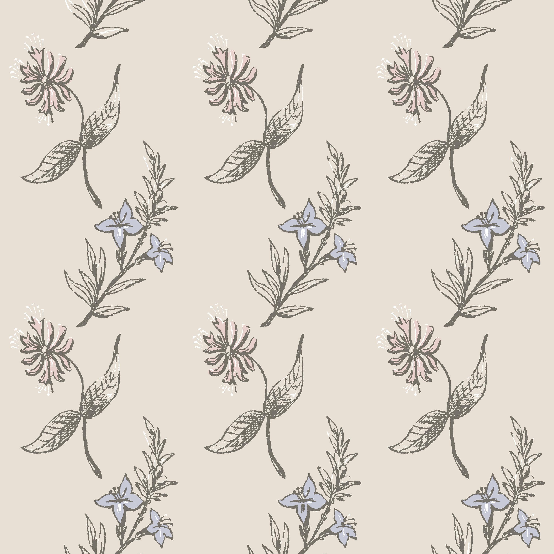 Floral Wallpaper Removable Nursery Wallpaper Vintage Etsy