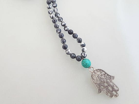 Men/'s Style Howlite Jewelry Men/'s Bead Necklace Yoga Mala Spiritual Necklace Men/'s Boho Necklace Bead Mala Bead Mala Men/'s Necklace