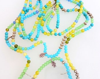 Protection Necklace, Yoga Mala, Spiritual Gift, Mala Jewelry, Bohemian Bracelet, Yoga Gift, Wrap Bracelet, Long Necklace, Woman's Bead Mala
