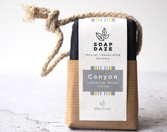Canyon Soap on a Rope, extra large, vegan soap