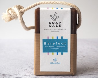 Barefoot Soap on a Rope, extra large, vegan soap