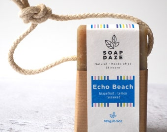 Echo Beach Soap on a Rope, extra large, vegan soap