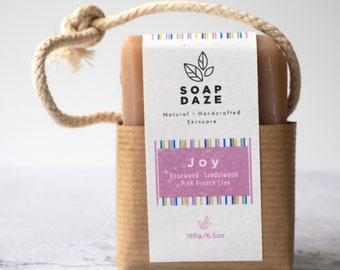 Joy Soap on a Rope, extra large, vegan soap