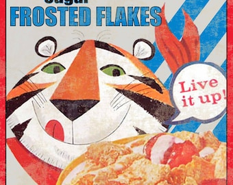 Good Tony The Tiger Frosted Flakes Kellogg's Cereal Advertising Premium Doll Toy Box Choice Materials Advertising