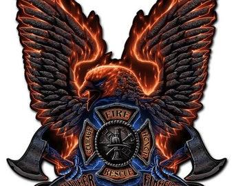 Fire Eagle Plasma Cut Metal Sign