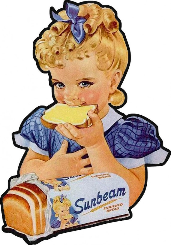 Bomber Bread Aviation Vintage Airplane Advertisement Food Metal Sign