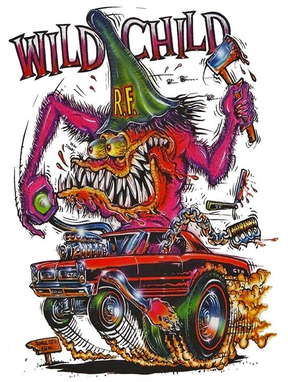 Beyond Nuts Rat Fink Big Daddy Ed Roth Metal Sign
