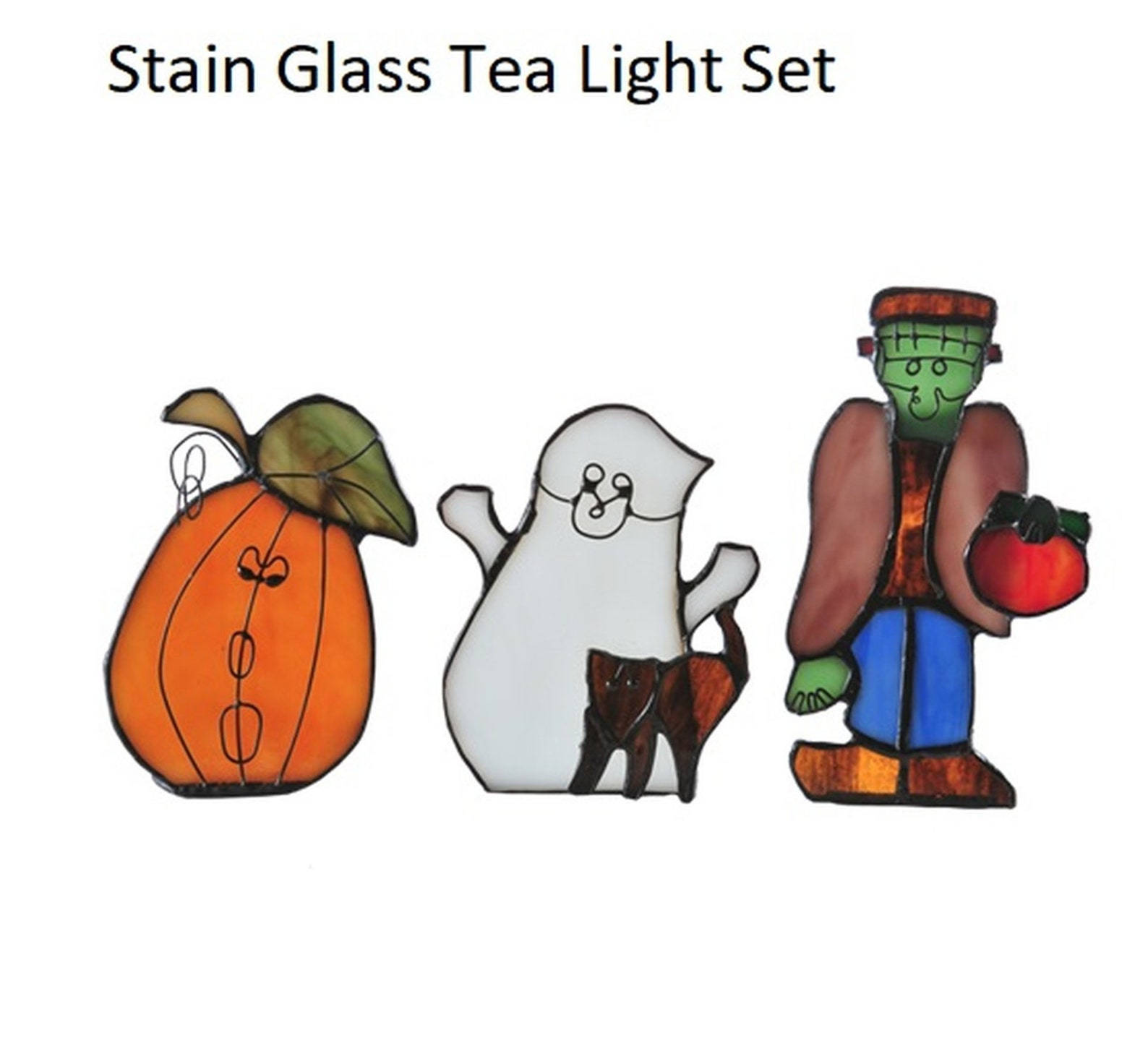 Halloween Stained Glass Suncatchers