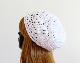 657bcb35f49b8 Women s white slouchy summer beanie