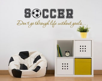 Personalized - Boys Name - Decal - Soccer - Wall Decal - Soccer Ball - Soccer Quotes - Kids Room Décor - Children - Boys Room - Wall Sticker